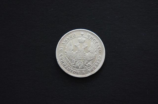 stříbrná mince, rubl